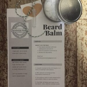 Beard Balm Instructions