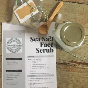 Sea Salt Scrub Instructions